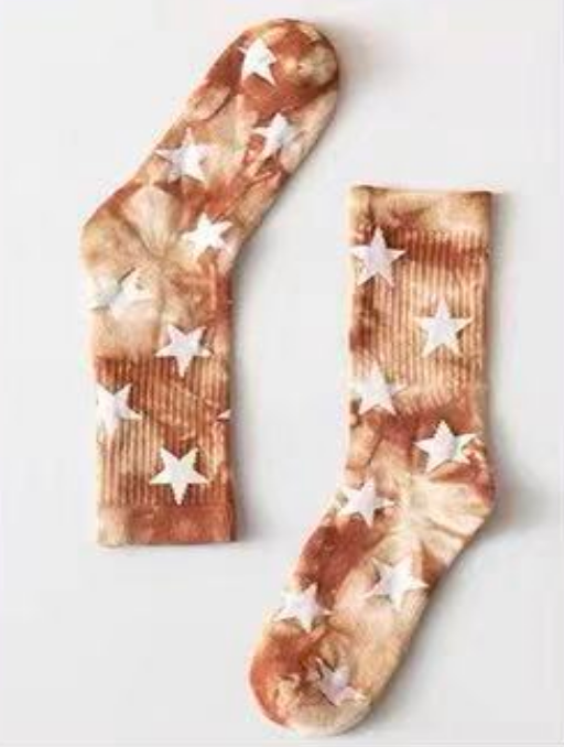 Redwood Star Tie Dye Socks