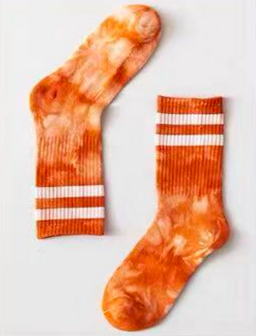 Squeeze the Day Tie Dye Striped Socks