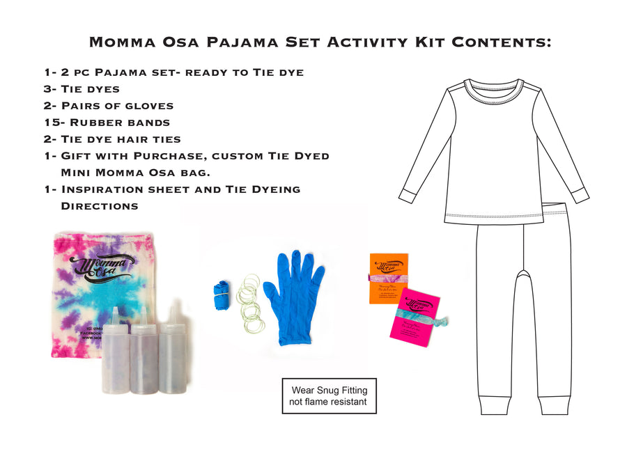 Majestic Collection - 2 PC Pajama- Tie Dye Activity Kit