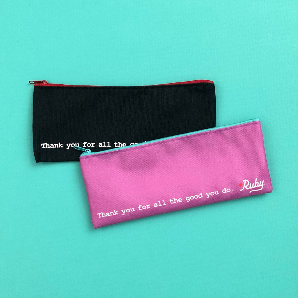 cute aqua lilac black red pixie pouch zippered pouch pencil case makeup case ruby