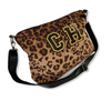 LEOPARD PRINT QUILTED MESSENGER BAG