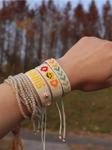 Happy bracelet stack