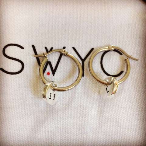 PERSONALISED SILVER HOOP EARRINGS