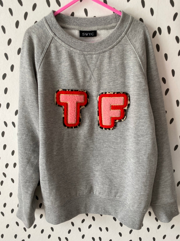 PERSONALISED GREY MARL SWEATSHIRT - KIDS