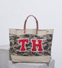 Camo print market shopper bag