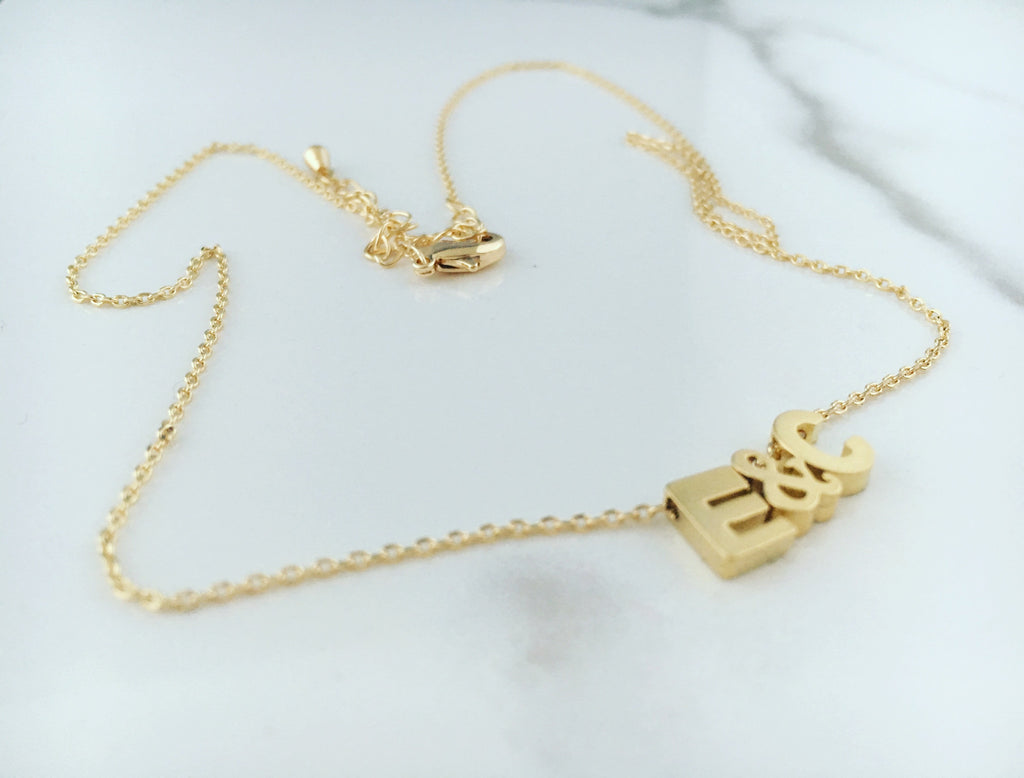 GOLD ALPHABET CHARM NECKLACE