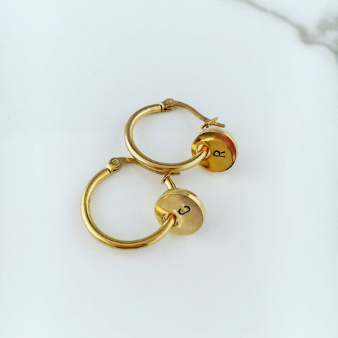 PERSONALISED GOLD HOOP EARRINGS