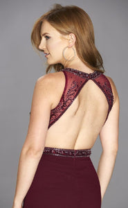 Sparkle Detail Open Back Dress