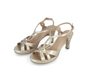 Ankle Strap Greek Sandal Metallic Gold