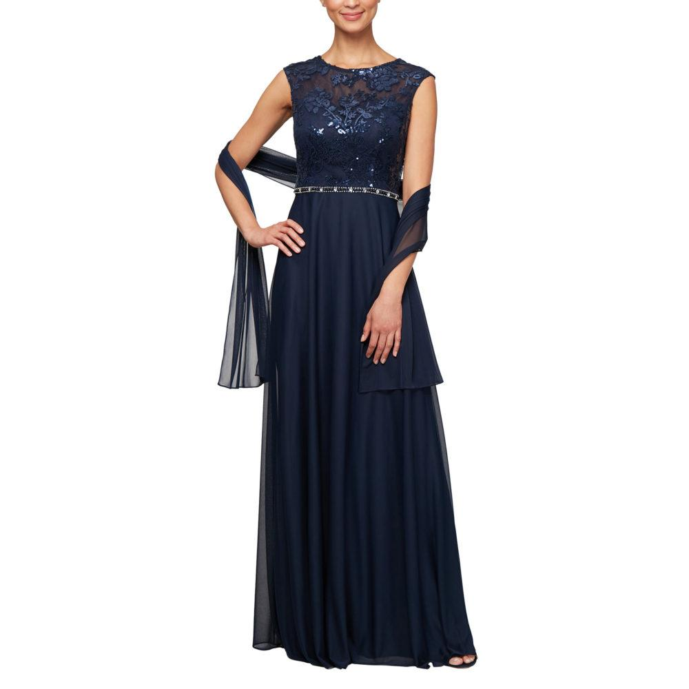 Dress W. Sequin Embroidered Bodice