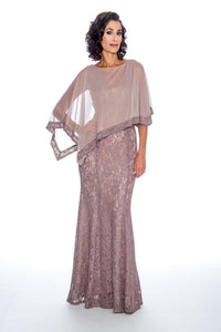 Cape Sparkle Lace Dress