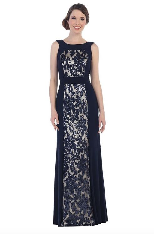 Elegant Floral Sequin Two tone