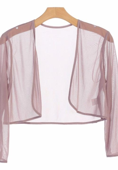 Chiffon Bolero Cover Up Mauve