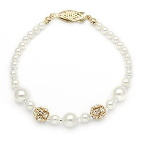 Bracelet With Pearls And Rhinestones