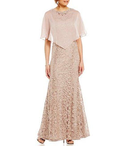 Cape Dress Sequin Lace