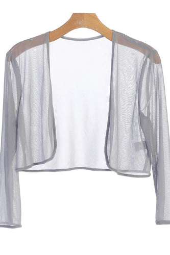 Chiffon Bolero Cover Up Silver