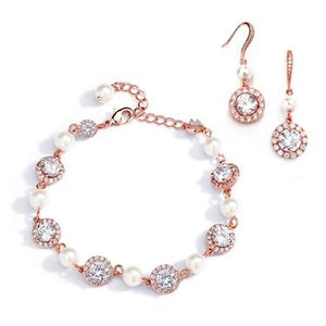 Pearl Sparkle Bracelet & Earrings