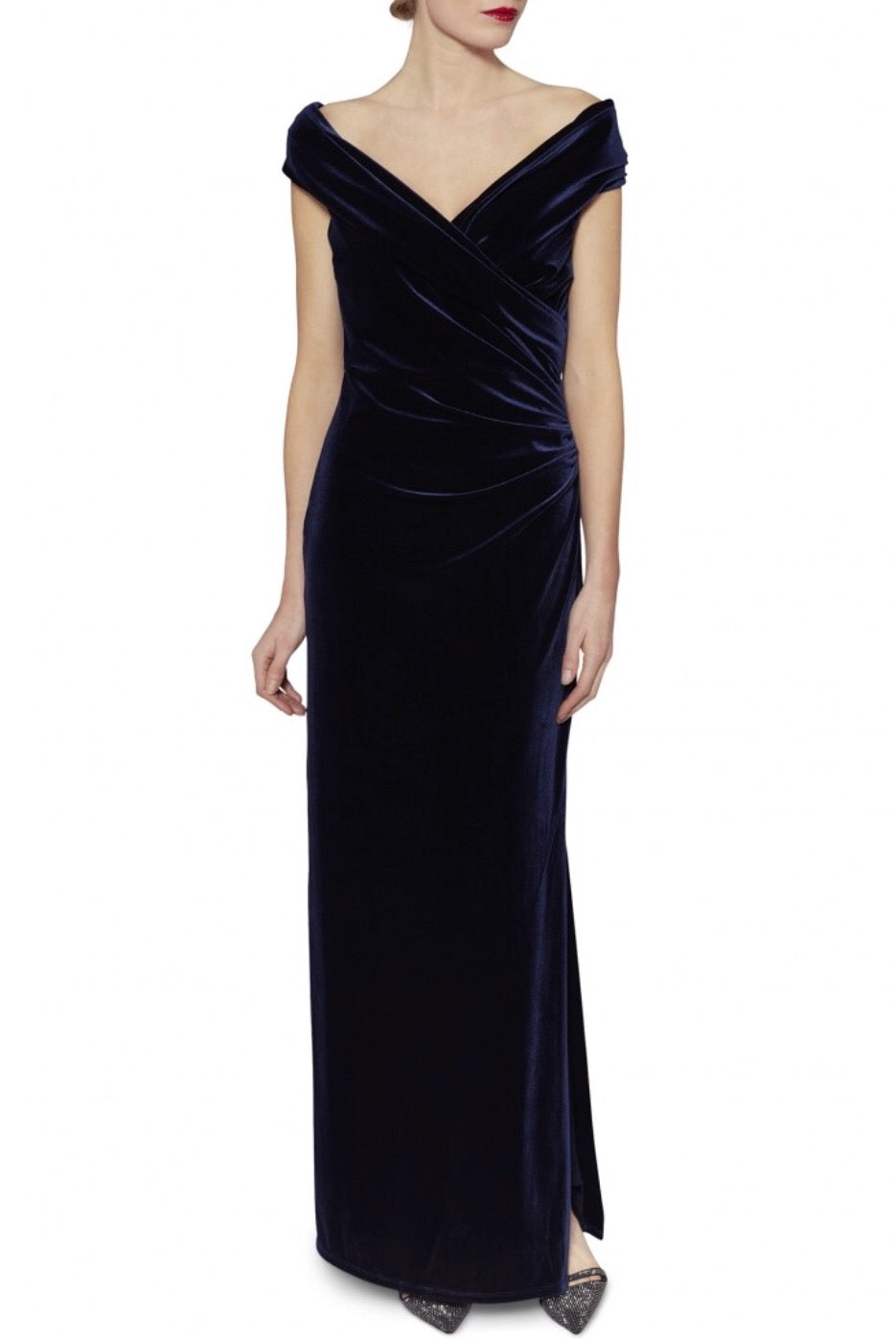 Cassandra Velvet Maxi Dress V-neck