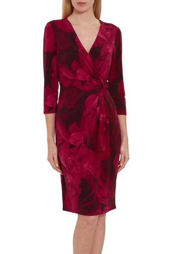 Lainey Floral Wrap Dress Kort kjole