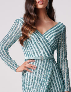 Ashanti Turqoise Sparkle Dress