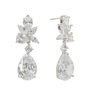 Exquisite Starlet Earrings Silver