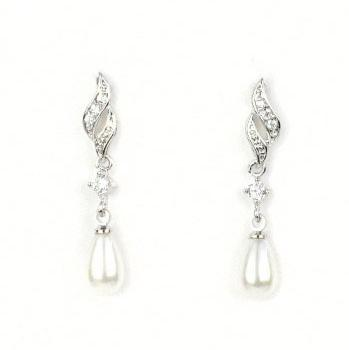 Castle Hill Pearl Silver Earrings