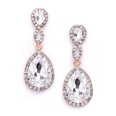Braided Teardrop Crystal Earrings