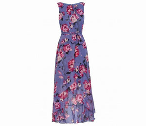 Floral Chiffon Dress Multicolor