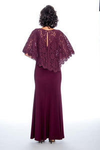 Lace Cape Jersey Dress Decode