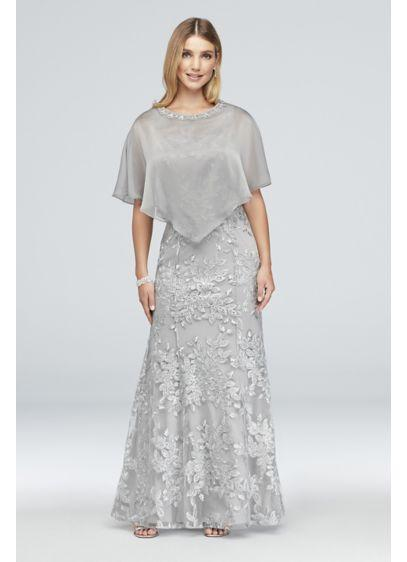 Cape Dress Antique Silver