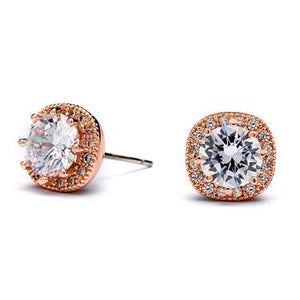 Cushion Stud Sparkle Earring