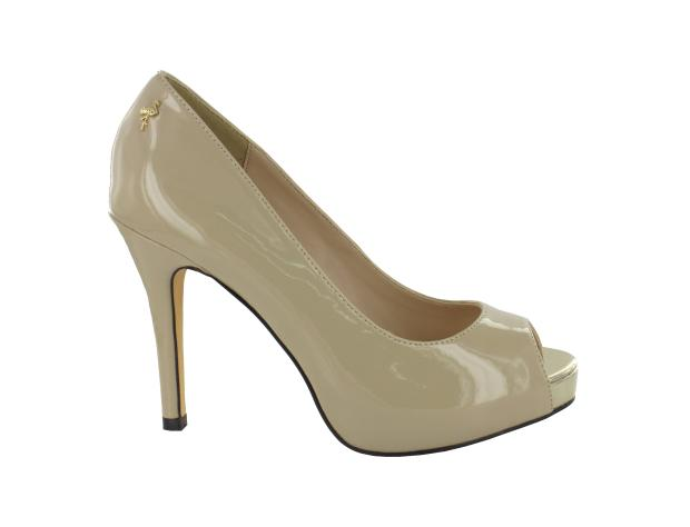Coated Peep-toe Pump