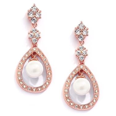 Caged Pearl Clip-On Earrings