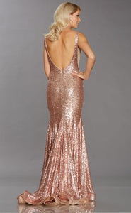 Sequin Dress w. Train