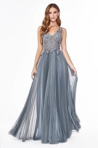 Tulle Dusty Blue Dress
