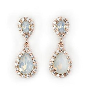 Castle Hill Drop Earrings Rose Gold