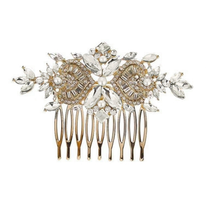 Exquisite Crystal Sparkle Comb Gold