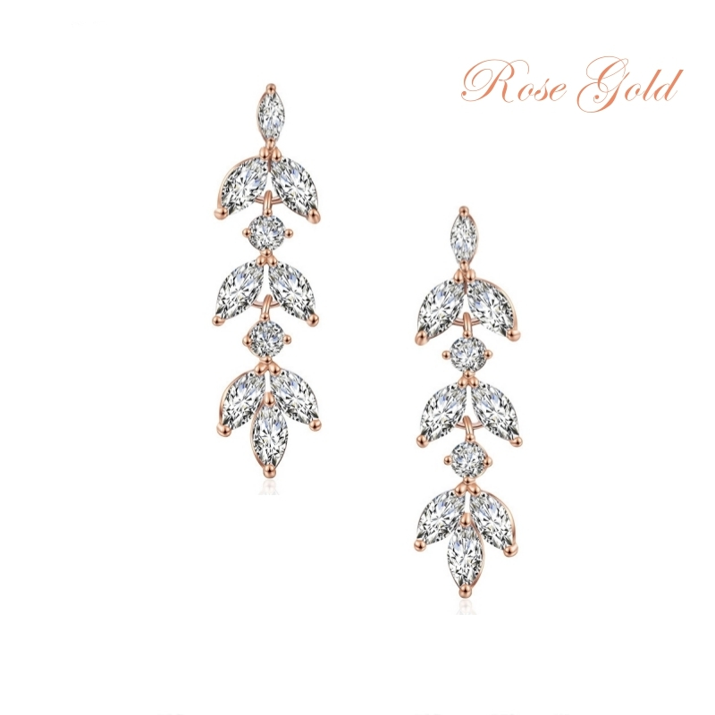 Dainty Drop Sprakle Earrings Rose Gold