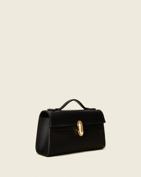 Symmetry Pochette in Black Leather