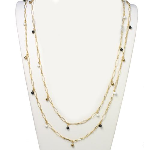 Eyelet Chain Layering Necklace