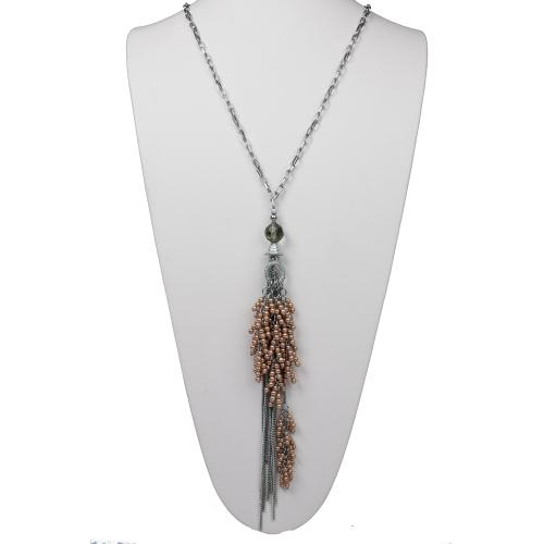 Gorgeous Tiny Peal Tassel Necklace