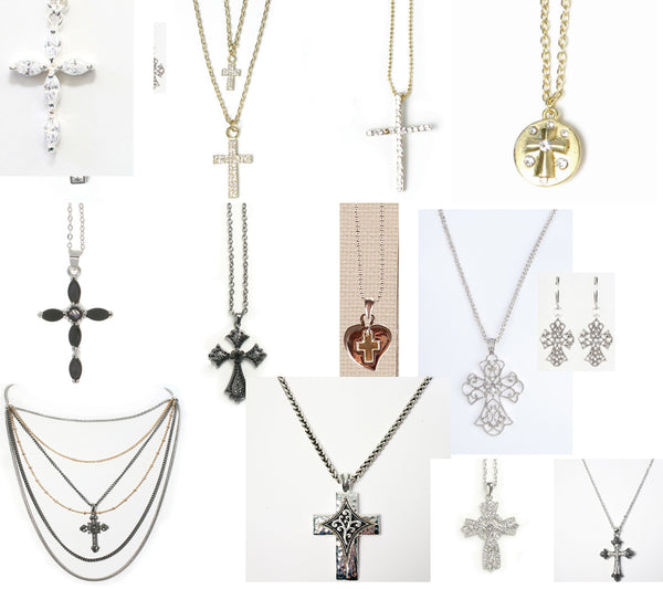 12 Cross Necklaces