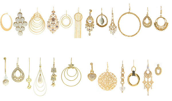 12 Gold Earrings