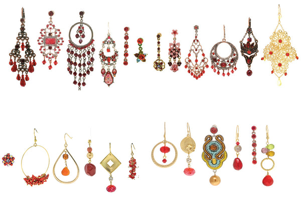 12 Red Earrings