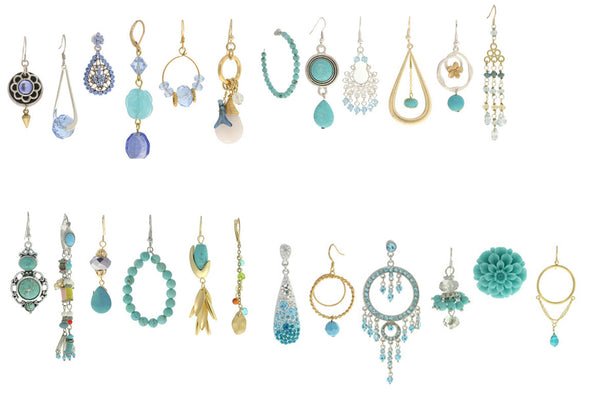 12 Turquoise Earrings
