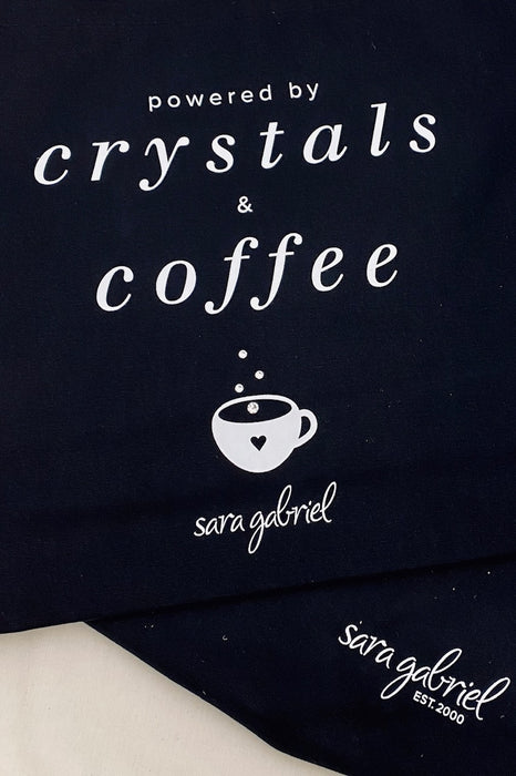 Crystals & Coffee tote bag
