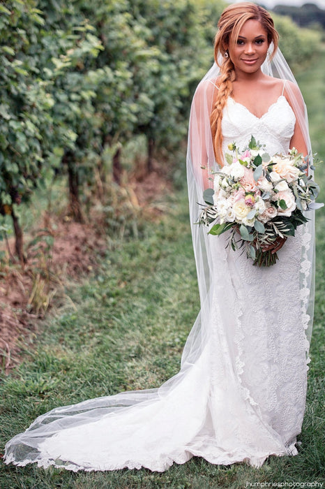French lace wedding veil