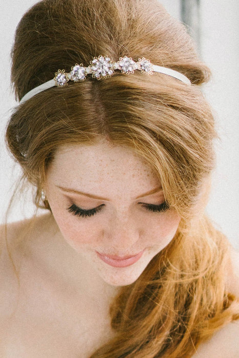 Wedding hair ribbon from Sara Gabriel