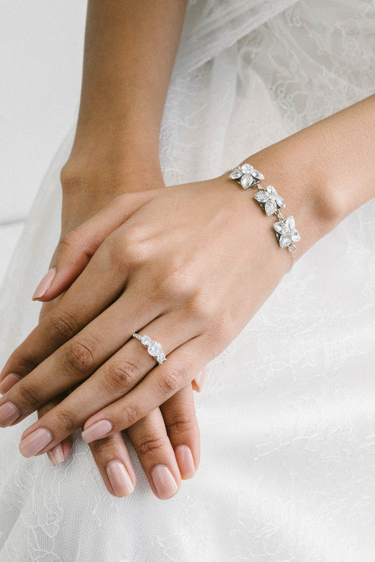 Mini crystal bracelet for brides and bridesmaids | Sara Gabriel