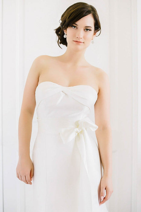 Satin bridal sash